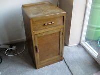 Wooden Bedside cabinet.