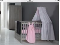 Vicenza cot and toddler bed in grey