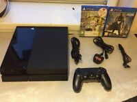 Sony Playstation 4 500GB PS4 with one controller and 2 games