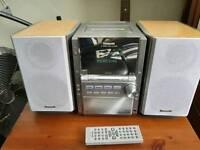 Panasonic SA-PM28 stereo 5 CD changer,radio and tape player