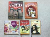 bundle of 5 children's history books