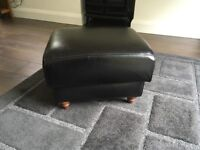 Genuine leather footstool