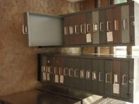Two Bisley 15 drawer cabinets
