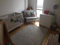 Baby crib Ikea white Sundvik