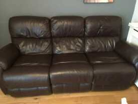 Electric recliner 3 seater and chair