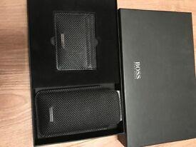 New Hugo boss card holder and phone case gift set