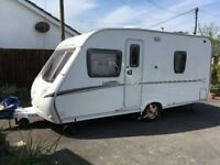 Abbey Vogue 470 2007 caravan with motor mover (4berth - fixed rear bed)