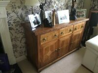 Beautiful Wooden Furniture. Table (230*120) 8 chairs . Sideboard. CD storage.