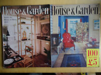 Bulk lot of 1950s House & Garden magazines