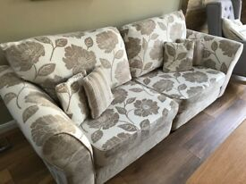 3 Seater Sofa, Cuddle Chair and Pouffe
