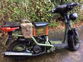 yamaha xc e vity 125,great scooter, mot ready, lots of new parts, rat survival style,