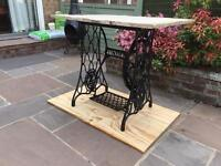 Singer table cast iron with Indian stone top