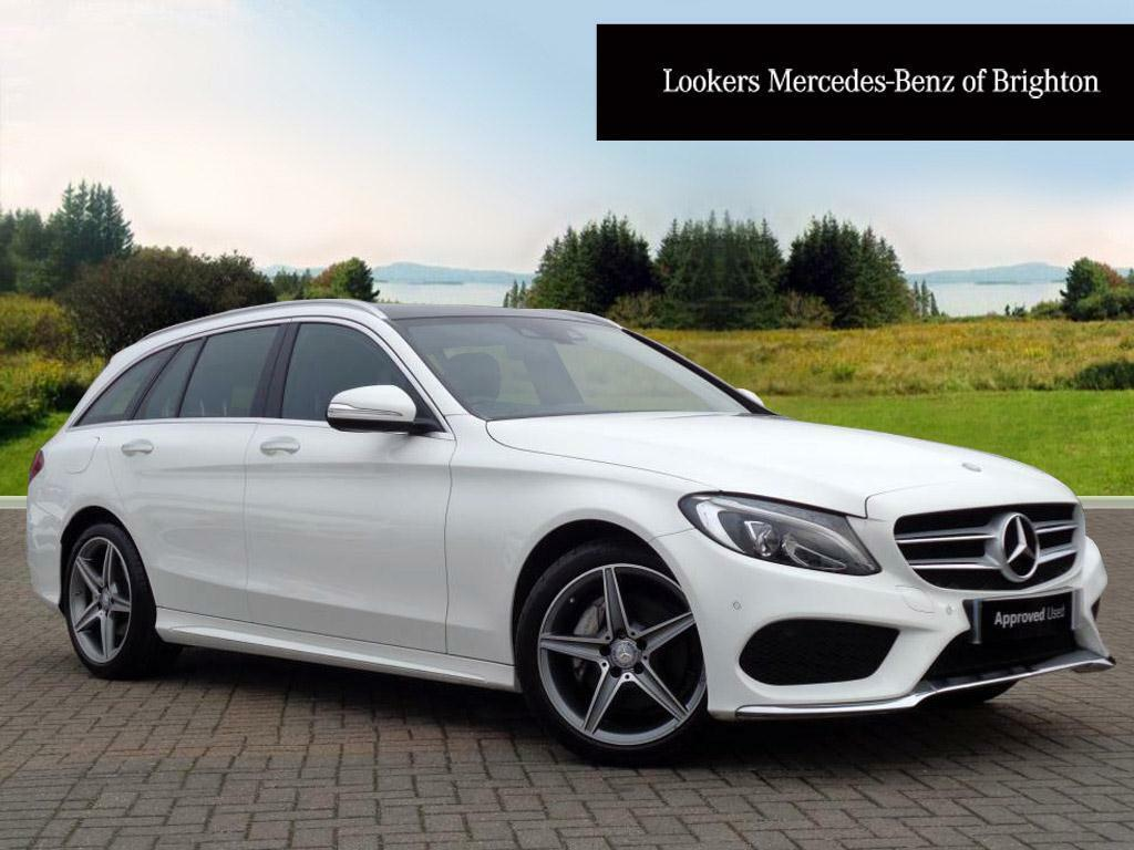 mercedes benz c class c220 bluetec amg line premium plus white 2015 01 09 in portslade east. Black Bedroom Furniture Sets. Home Design Ideas