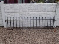 wrought iron railings / wall topper / driveway / garden fence / patio / decking area / fencing
