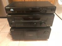 Sony STR-DE945 Amplifier/Receiver + Sony CDP-CX255 200 Disc CD Player + Sony DVP-S360 DVD Player