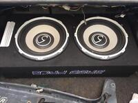 """Twin 12"""" subs in box with amp very loud!"""