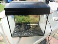 SMALL FISH TANK WITH LIGHT HEATER AND FILTER
