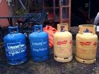 5 empty gas bottles - £10-for 13-15kg, £15 for 19kg bottle. 'Free' gas heater too (if anyone wants).