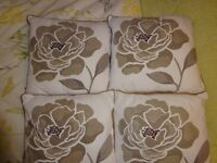 Cushions with insets x 4