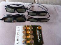 4 x Sets of 3d glasses & batteries