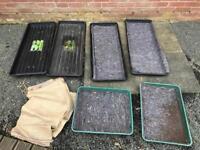 Greenhouse trays / potato sacks