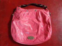Mulberry Genuine Creased Salmon Pink Patent Leather Mitzy Hobo Bag