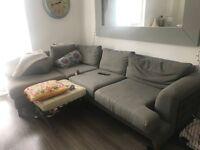 Sofa grey - chaise lounge 240cmx100cm