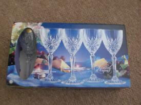 Crystal Wine Glasses £10 (box of 4)