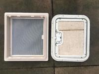 Caravan skylight surround with fly screen + thetford caravan door