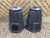 2 x BLACKWALL 330 LITRE BLACK COMPOST CONVERTER