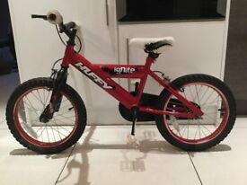 "Kids 14"" Huffy Ignite bike. Suit 4/6 year old."