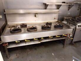 6 burner wok range cooker