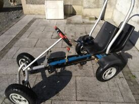 PEDAL GO-KART - adjustable seat, 1 or 2 seat options, roll bar