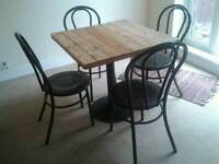 Handmade Bistro Table + 4 Bistro Chairs.