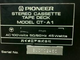 Pioneer cassette tape deck CT-A1