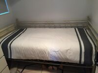 Metal Daybed with nearly new Ikea mattress
