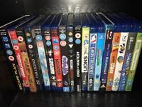 Box full of blu rays and dvds collection DVD bargain car boot