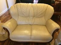 Second hand real leather sofas