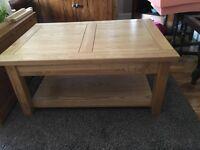 Coffee table solid oak