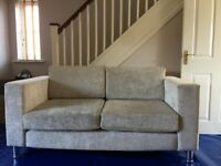 2 x 2 seater used fabric sofas in excellent condition.