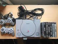 PlayStation 1, 2 controllers, 6 games