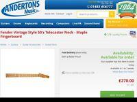 Fender telecaster '50s neck