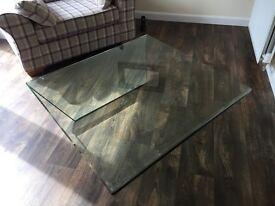 Greenapple - Curvo Glass Coffee Table (Beautiful table 1050mmX1050mmX330mm)