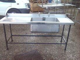 COMMERCIAL SINK 183x67cm HEIGHT 83 cm