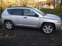 jeep compass limited crd turbo diesel 4x4 2009 09 plate metallic silver cherokee