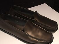 Tods brown leather loafers