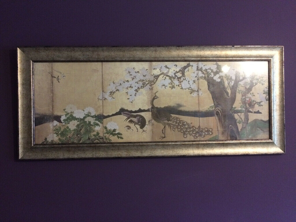 Lovely john lewis cherry blossom and peacocks picture