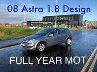 £1190 2008 Astra Design 1.8l* like focus megane golf insignia mondeo civic A3 A4 corolla,
