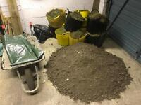 Dug up turf and garden soil free to collect