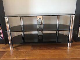 Black Glass TV UNIT / Stand / Black